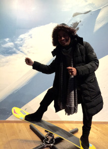 Attempting-the-snowboard-Ski-Museum-Oslo