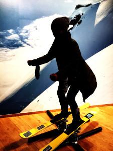 attempting-skiing-Ski-Museum-Oslo