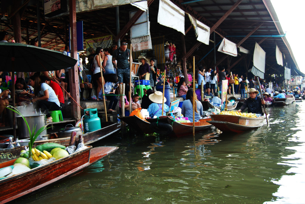 The Floating River Markets in Bangkok, Thailand