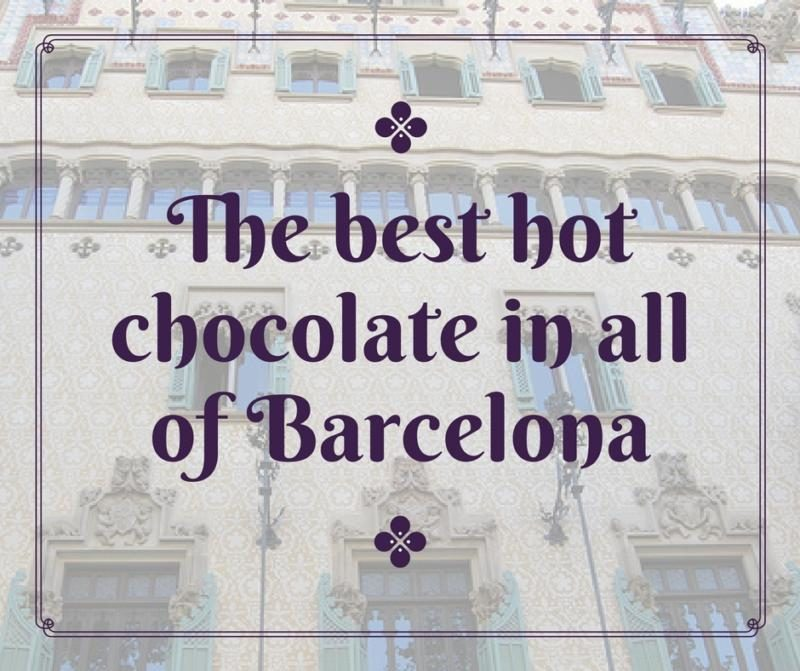 best chocolate in Barcelona, spain