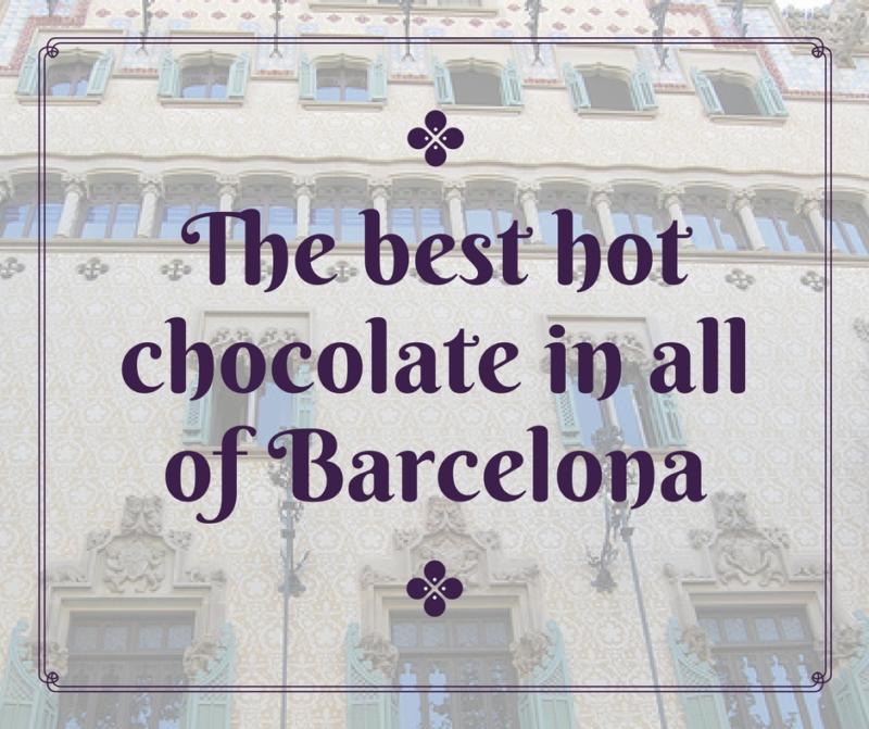 best chocolate in Barcelona, spain