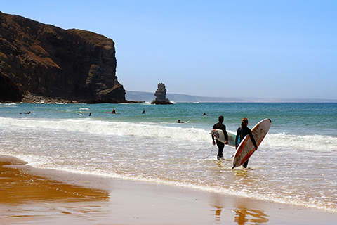 Arrifana-Beach-Algarve. taken from James Villa Holidays blog