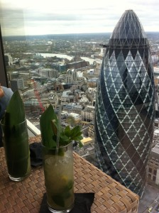 sushi samba view with mocktails