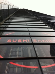 sushi samba tower view