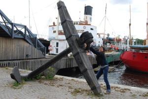 large anchor outside vasa museet stockholm sweden