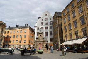 nobel square in stockholm sweden