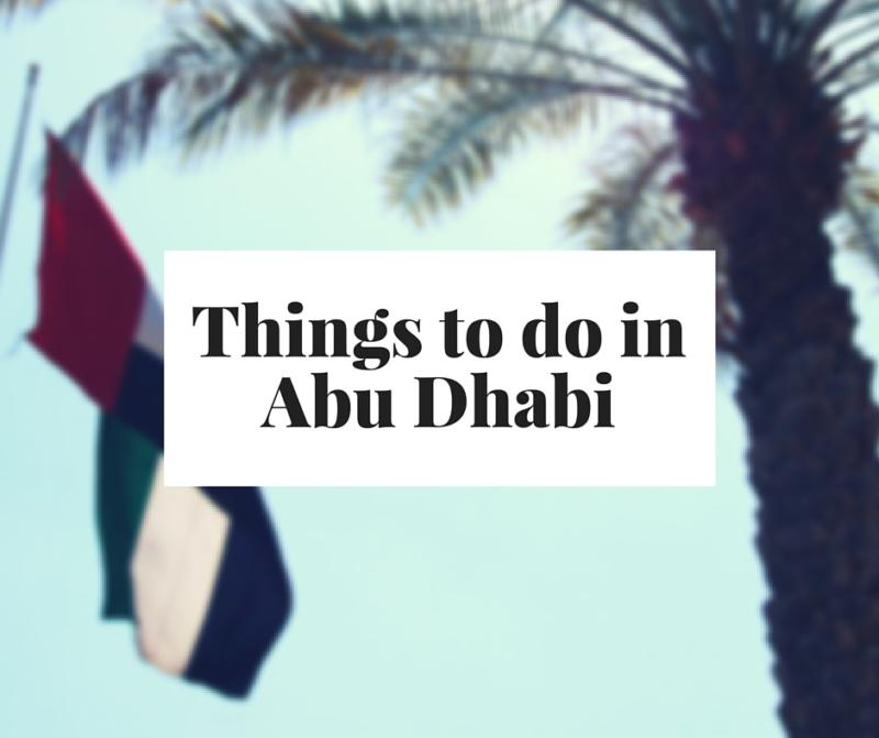 Abu Dhabi Things To Do