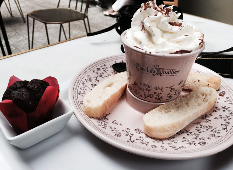 Cafe Faborit Amatller Hot Chocolate Barcelona cup
