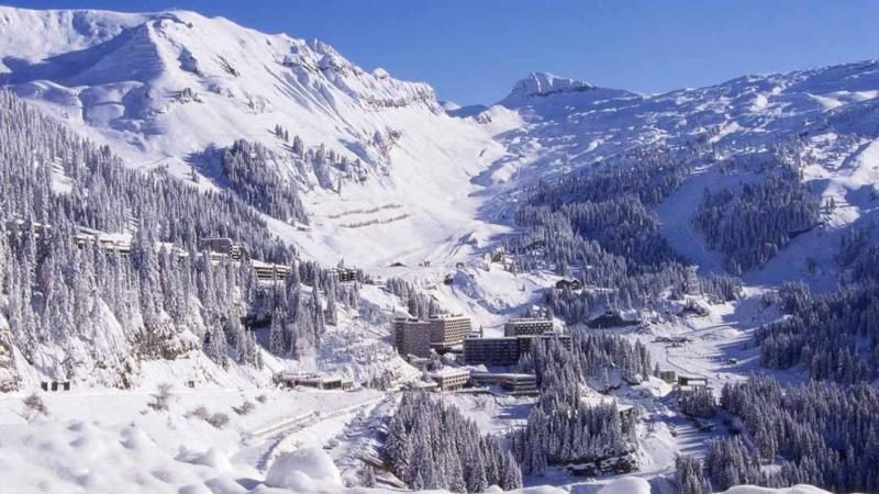 snow in Flaine, France