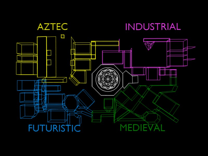 Crystal maze manchester zone map from tv show