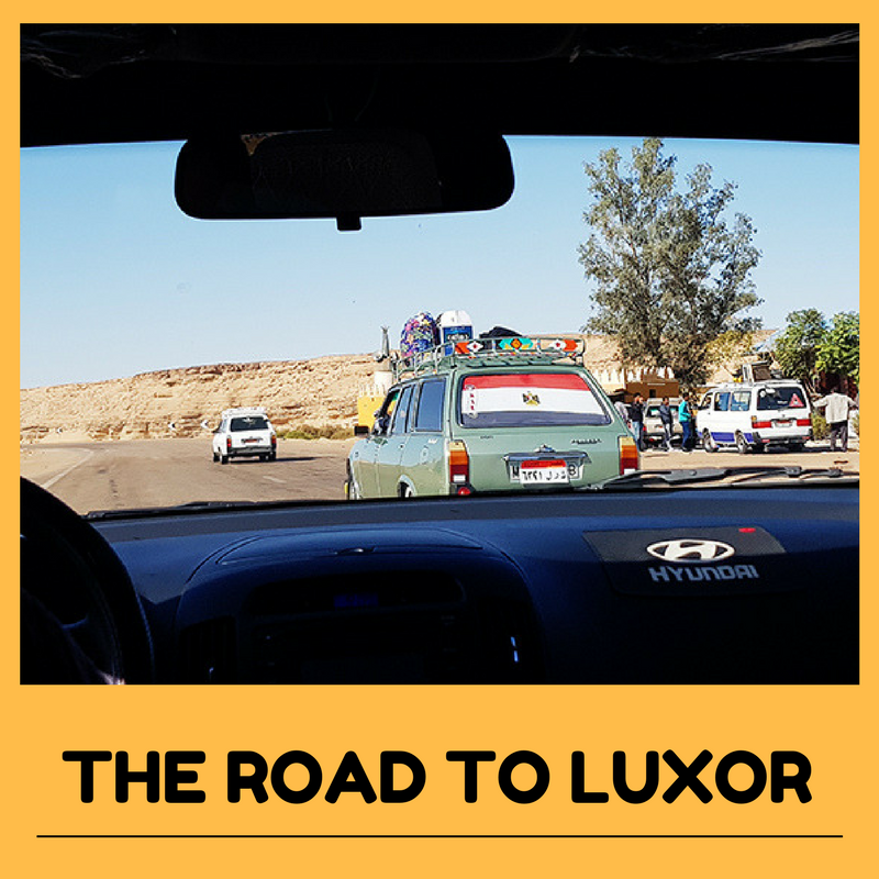 The road to Luxor